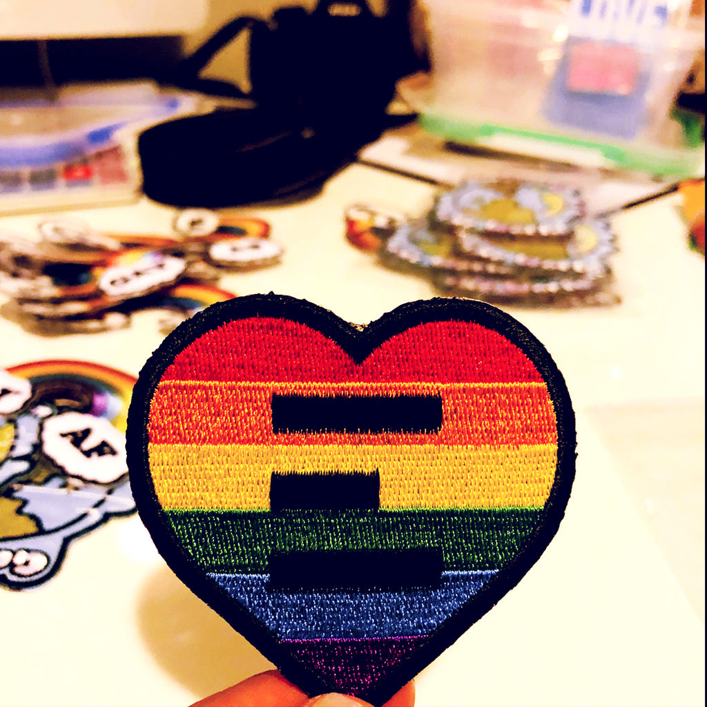 Equality Heart Logo Heart Patch