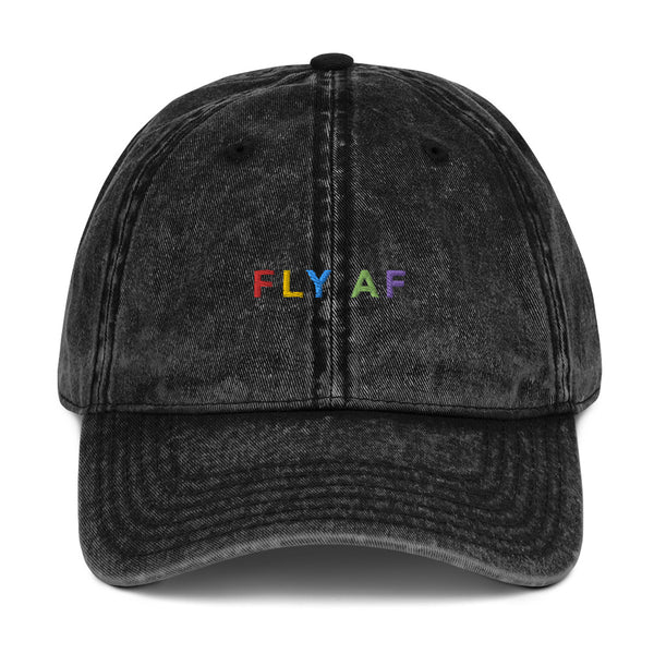 FLY AF Washed Dad Hat