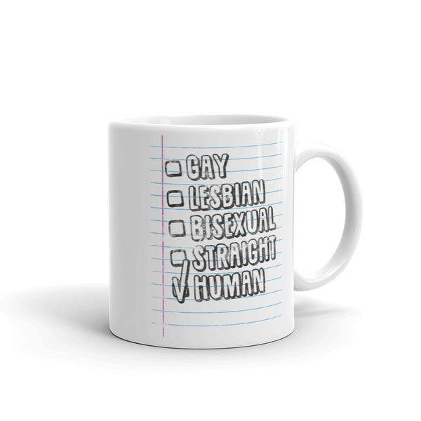 Gay Straight Bisexual Human Mug