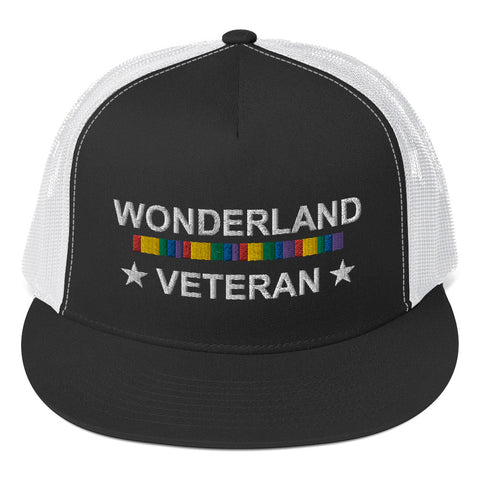Wonderland Veteran Trucker Cap