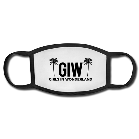 GIW Logo Face Mask - white/black
