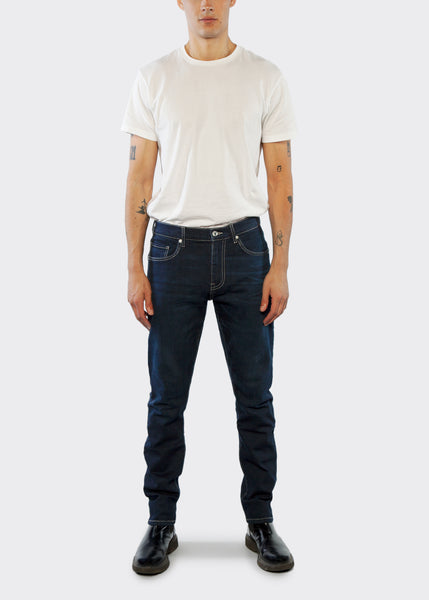 Slim Straight Fit Jean - Blue Black