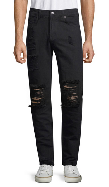 Distressed Cotton Skinny Jeans