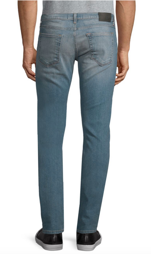 Slim Straight Whiskered Jeans