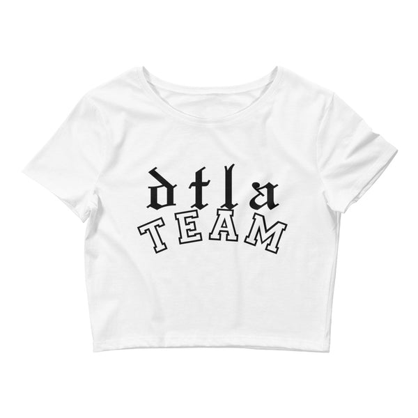 DTLA Team Crop Tee (White)
