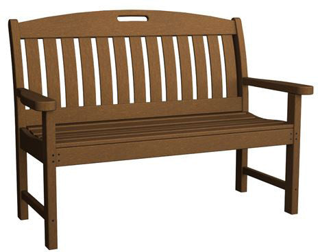 "Polywood NB48TE Nautical 48"" Bench Teak Finish - PolyFurnitureStore - 1"