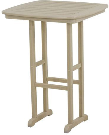 "Polywood NCBT31SA Nautical 31"" Bar Table Sand Finish - PolyFurnitureStore - 1"