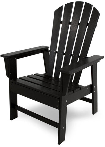 Polywood SBD16BL South Beach Dining Chair Black Finish - PolyFurnitureStore - 1