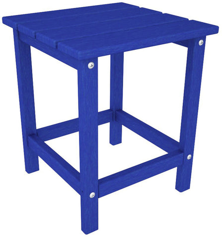 "Polywood ECT18PB Long Island 18"" Side Table Pacific Blue Finish - PolyFurnitureStore - 1"