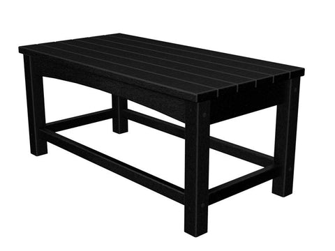 Polywood CLT1836BL Club Coffee Table in Black - PolyFurnitureStore