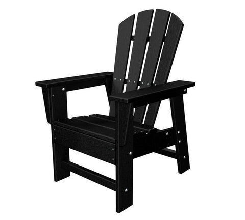Polywood SBD12BL Kids Casual Chair in Black - PolyFurnitureStore