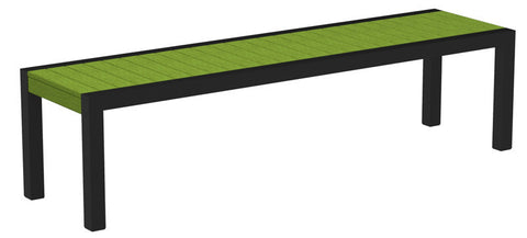 Polywood 3800-12LI MOD Bench in Textured Black Aluminum Frame / Lime - PolyFurnitureStore