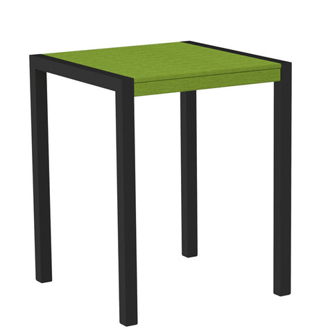 "Polywood 8001-12LI MOD 30"" Counter Table in Textured Black Aluminum Frame / Lime - PolyFurnitureStore"