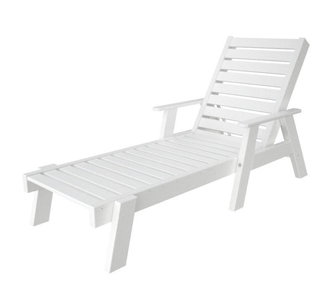Polywood AC2678-1WH Captain Chaise with Arms in White - PolyFurnitureStore