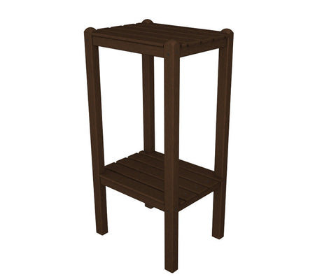 Polywood BSTMA Two Shelf Bar Side Table in Mahogany - PolyFurnitureStore