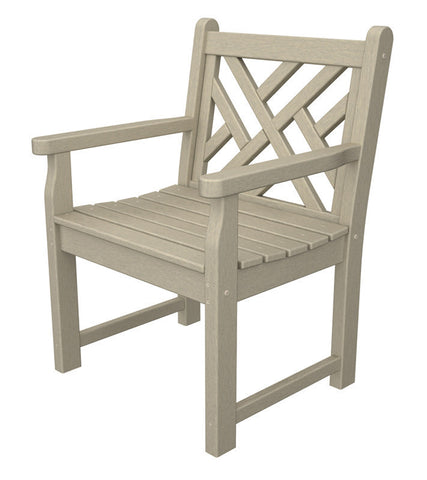 Polywood CDB24SA Chippendale Garden Arm Chair in Sand - PolyFurnitureStore