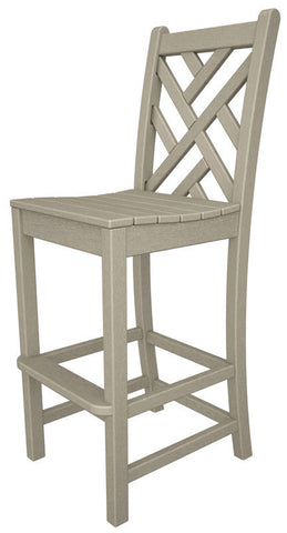 Polywood CDD102SA Chippendale Bar Side Chair in Sand - PolyFurnitureStore
