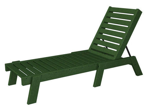 Polywood CH7826-1GR Captain Chaise in Green - PolyFurnitureStore