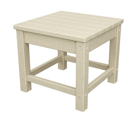 "Polywood CLT1818SA Club 18"" Side Table in Sand - PolyFurnitureStore"
