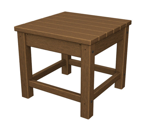 "Polywood CLT1818TE Club 18"" Side Table in Teak - PolyFurnitureStore"
