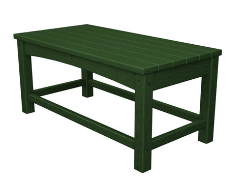 Polywood CLT1836GR Club Coffee Table in Green - PolyFurnitureStore