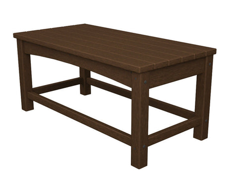 Polywood CLT1836MA Club Coffee Table in Mahogany - PolyFurnitureStore