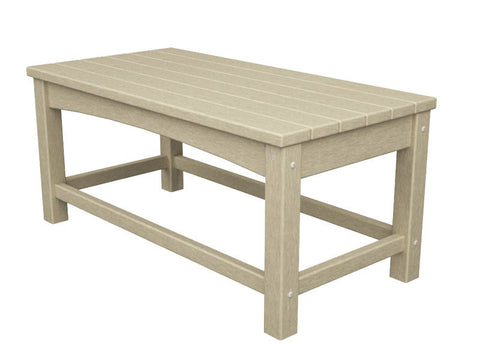 Polywood CLT1836SA Club Coffee Table in Sand - PolyFurnitureStore