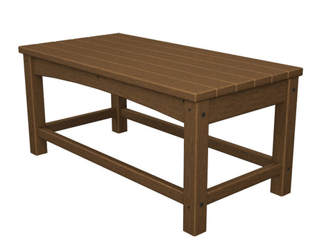 Polywood CLT1836TE Club Coffee Table in Teak - PolyFurnitureStore