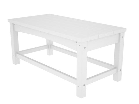 Polywood CLT1836WH Club Coffee Table in White - PolyFurnitureStore