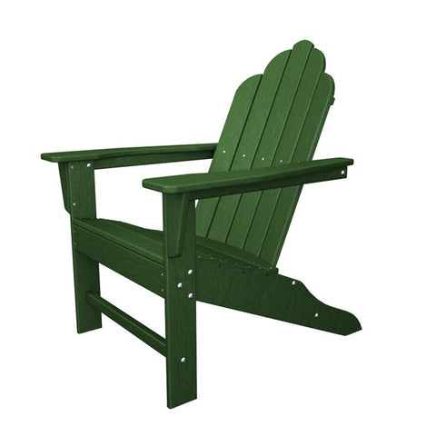 Polywood ECA15GR Long Island Adirondack in Green - PolyFurnitureStore