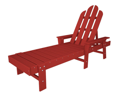 Polywood ECC76SR Long Island Chaise in Sunset Red - PolyFurnitureStore