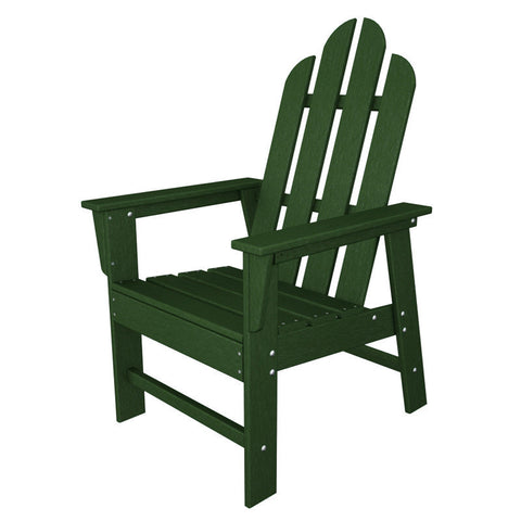 Polywood ECD16GR Long Island Dining Chair in Green - PolyFurnitureStore