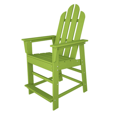 Polywood ECD24LI Long Island Counter Chair in Lime - PolyFurnitureStore