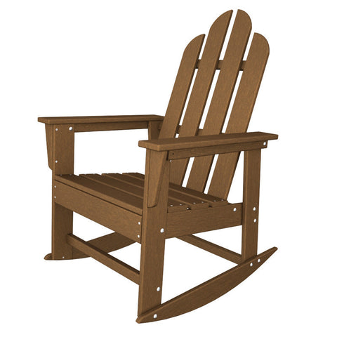 Polywood ECR16TE Long Island Rocker in Teak - PolyFurnitureStore