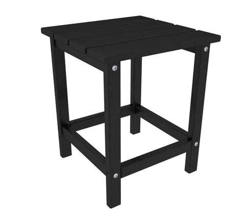 "Polywood ECT18BL Long Island 18"" Side Table in Black - PolyFurnitureStore"