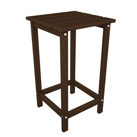 "Polywood ECT26MA Long Island 26"" Counter Side Table in Mahogany - PolyFurnitureStore"