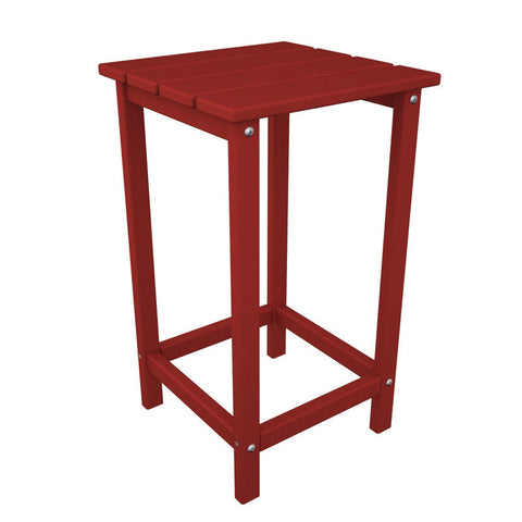 "Polywood ECT26SR Long Island 26"" Counter Side Table in Sunset Red - PolyFurnitureStore"