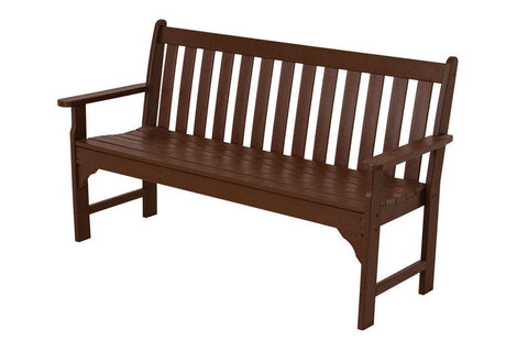 "Polywood GNB60MA Vineyard 60"" Bench in Mahogany - PolyFurnitureStore"