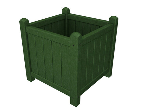 "Polywood GP16GR Traditional Garden 16"" Planter in Green - PolyFurnitureStore"