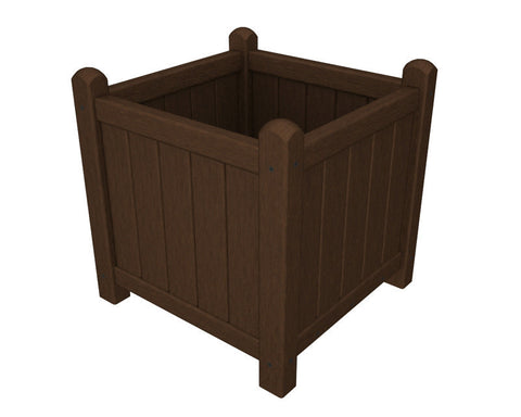 "Polywood GP16MA Traditional Garden 16"" Planter in Mahogany - PolyFurnitureStore"