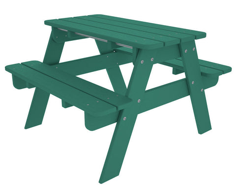 Polywood KT130AR Kids Picnic Table in Aruba - PolyFurnitureStore