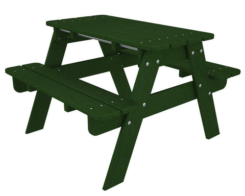 Polywood KT130GR Kids Picnic Table in Green - PolyFurnitureStore