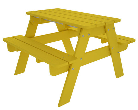 Polywood KT130LE Kids Picnic Table in Lemon - PolyFurnitureStore