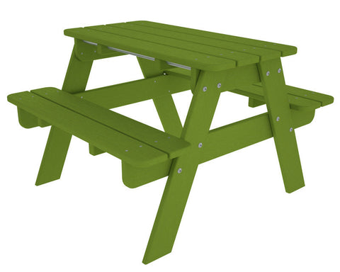 Polywood KT130LI Kids Picnic Table in Lime - PolyFurnitureStore