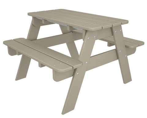 Polywood KT130SA Kids Picnic Table in Sand - PolyFurnitureStore