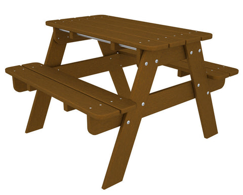 Polywood KT130TE Kids Picnic Table in Teak - PolyFurnitureStore