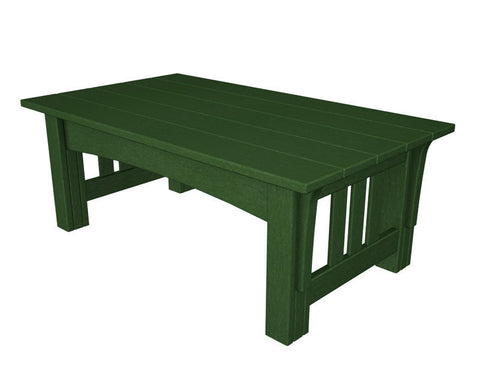 Polywood MS2748GR Mission Coffee Table in Green - PolyFurnitureStore