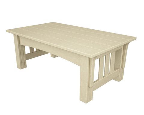 Polywood MS2748SA Mission Coffee Table in Sand - PolyFurnitureStore