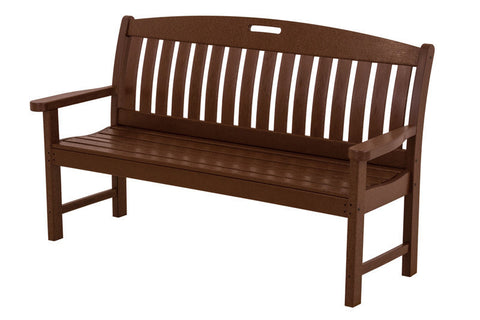 "Polywood NB60MA Nautical 60"" Bench in Mahogany - PolyFurnitureStore"