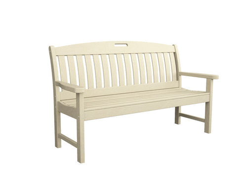 "Polywood NB60SA Nautical 60"" Bench in Sand - PolyFurnitureStore"